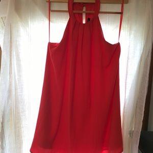 Chiffon Halter Swing Dress